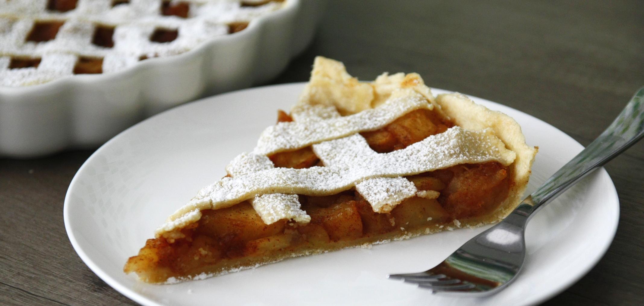 "Apple pie<span class=""badge-status"" style=""background:#5add08"">Vegan</span>"