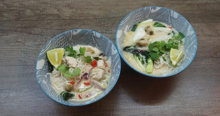 Thajská kuracia kokosová polievka